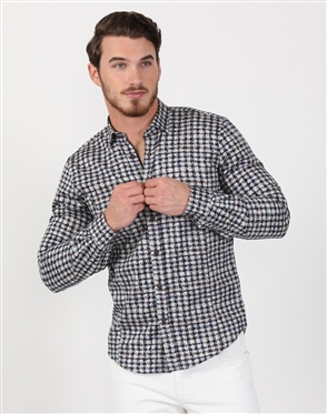 Pixel Men's Designer Dress Shirt