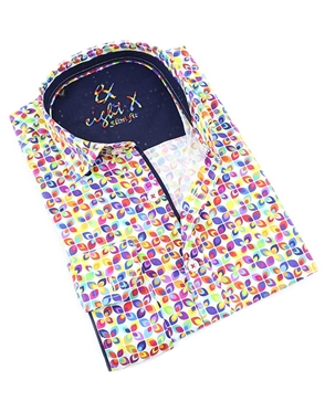 Colorful Pattern Print Shirt