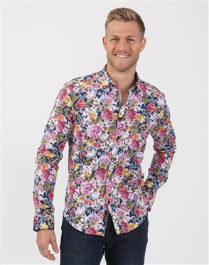 Men's Botanic Multi Colored Dress Shirt