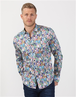 Multi-Colored Floral Print Shirt