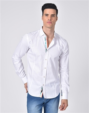Luxury Sport Shirt - Elegant White Dress Shirt