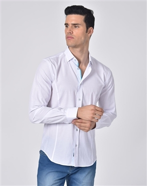 Luxury Sport Shirt - Business Casual Dress Shirt In White