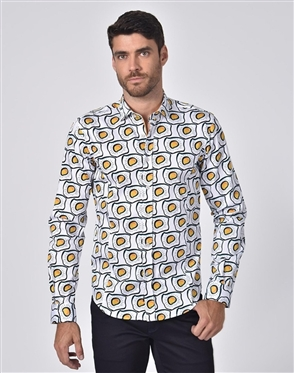 Austere Luxury Sunny Side Up Print Shirt