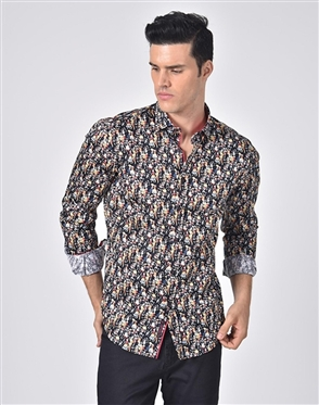 Austere Luxury Dancing Day Of The Dead Print Shirt