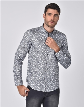 Austere Luxury Paisley On Paisley Print Shirt