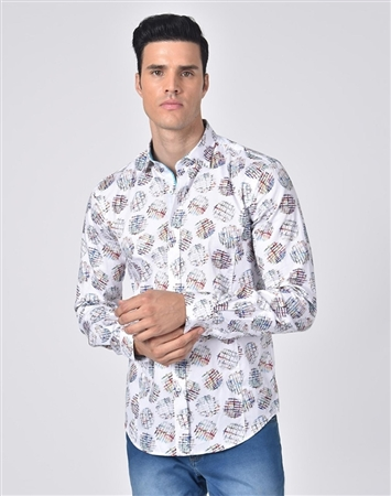 Austere Luxury Multicolored Waffle Fries Print Shirt