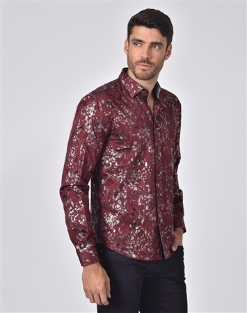 Austere Luxury Paisley And Foil Jacquard Shirt