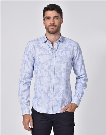 Austere Luxury Royal Geo-Shapes Print Jacquard Shirt