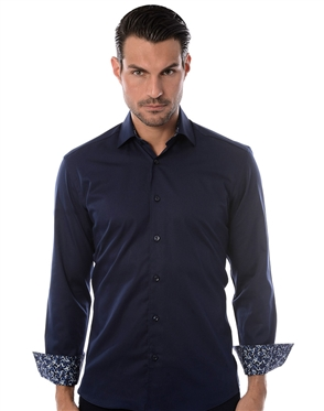 Casual Navy Sport Shirt