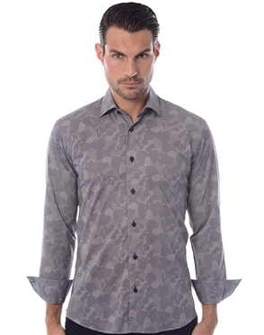 Designer Dress Shirt - Navy Sport Shirt