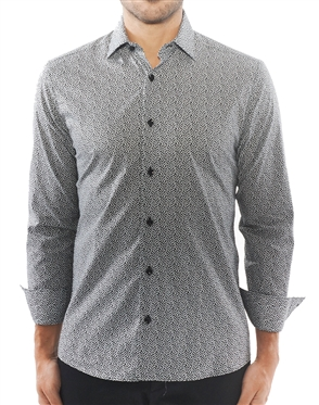 Black Liberty Print Dress Shirt