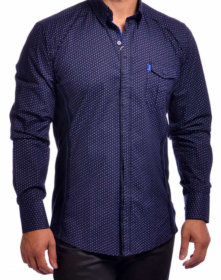 Dress Shirt- 7392102 Navy by Mondo Jeans