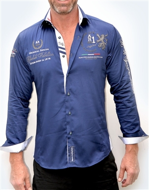 Absolute Rebellion Shirt Mykonos Navy