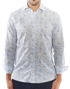 Abstract Water Print Sport Shirt