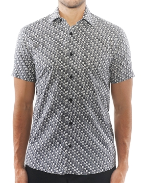 Black Grey Dot Luxury Shirt