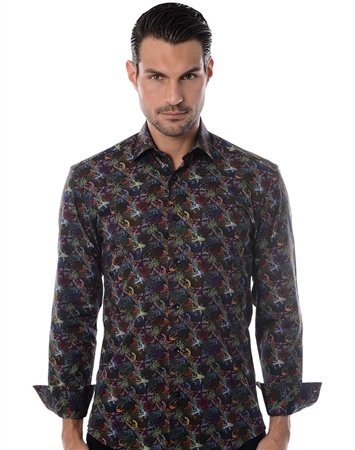 Black Multi Designer Shirt