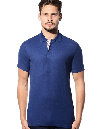 navy Designer Polo Shirt