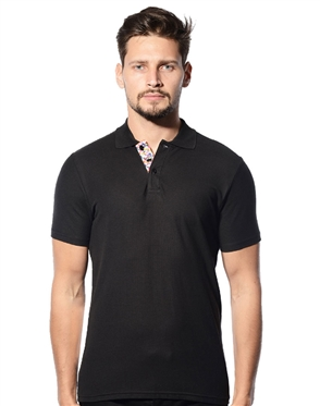 Shop Men Black Polo Shirt- Bertigo Polo Shirt Black