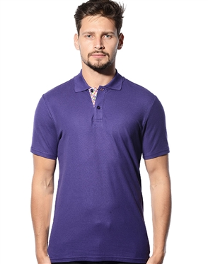 Designer Polo Shirts- Men Purple Short Sleeve Designer Polo