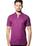 Plum Color Shirt Sleeve Designer Polo