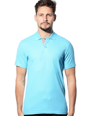 Sky Blue Short Sleeve polo Shirt