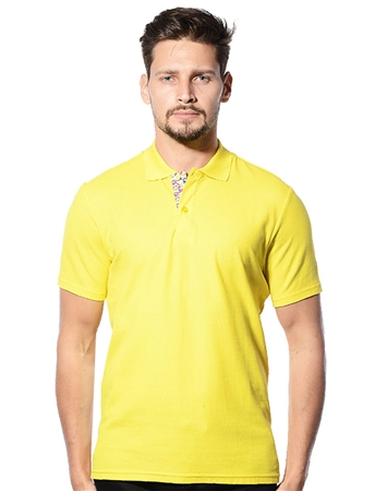 Designer Polo Shirt | Men Yellow Designer Polo