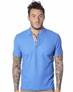 Designer Polo - Blue Short Sleeve