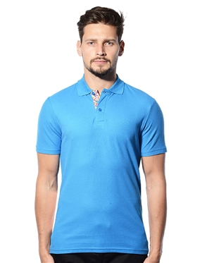 Blue Polo Shirt- Fashionable Polo