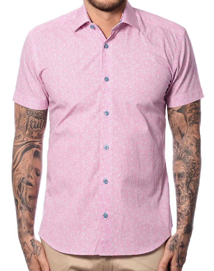 4b3a668e Pink Blue Short Sleeve Shirt   Luxury Short Sleeve Shirt   Bertigo ...
