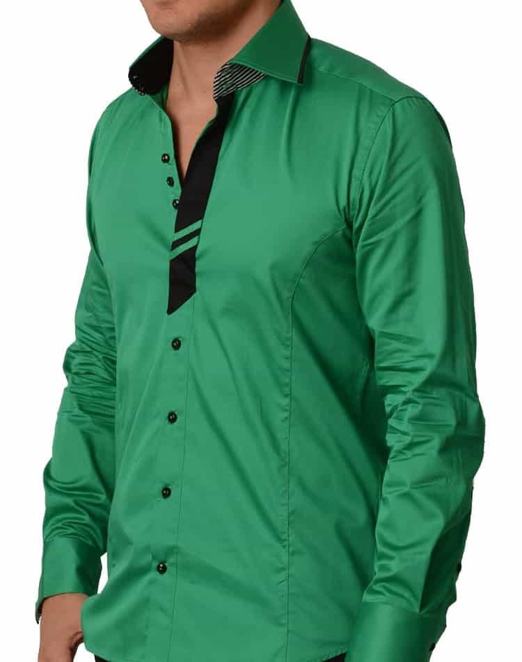 c5c4e8f6 T R Premium shirts- 535 Green