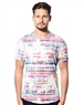 Designer T-Shirt -  Multi. Color Palm Tree T-Shirt