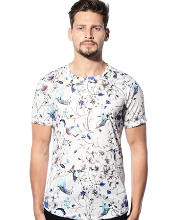 Designer T-Shirt - Butterfly Digital Print Luxury T-Shirt