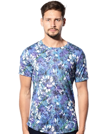 Designer T-Shirt - Purple Floral Luxury T-Shirt