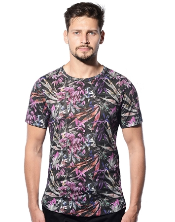 Designer Luxury T-Shirt - Purple Floral Luxury T-Shirt