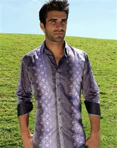 purple designer shirt