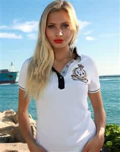 Absolute Rebellion Women Polo Simonetta White