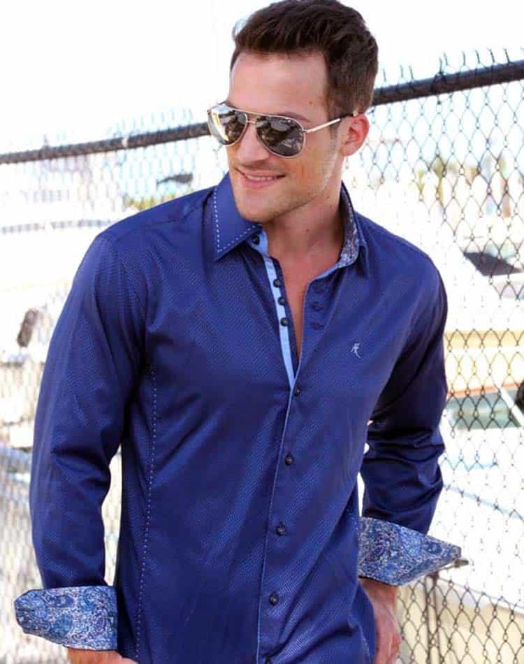 absolute rebellion rebel blue luxury dress shirt