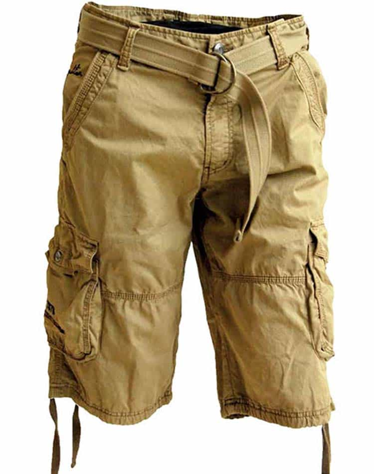 Khaki Cargo Shorts Mens - The Else