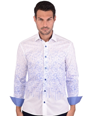 White And Blue Luxury Sport Shirt