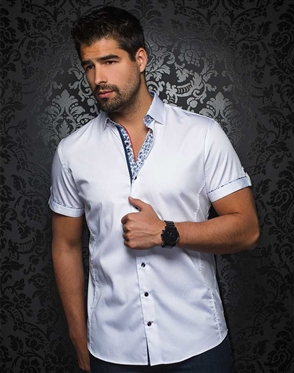 Sporty White Short Sleeve Woven