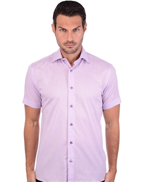 Sporty Purple Linen Shirt