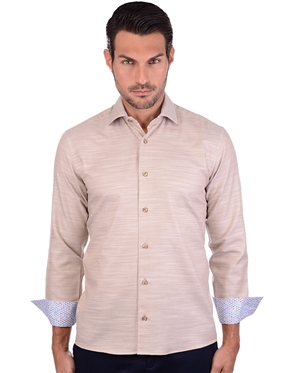 Classic Brown Long Sleeve Woven Shirt
