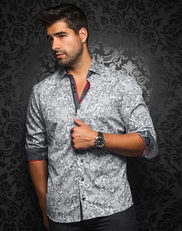 Designer Dress Shirt: Anton Black