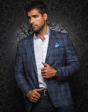 Luxury Men's Blazer - Arnold Navy