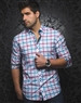 Fuchsia Turquoise Check Dress Shirt