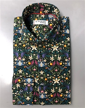Luxury Floral Print dress Shirt
