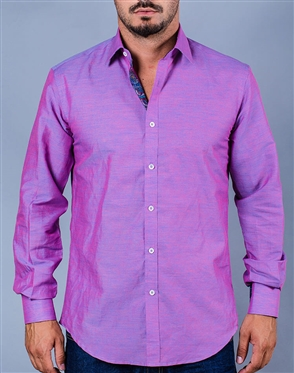 Fuchsia Casual Dress Shirt