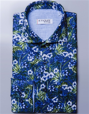 Luxury Floral Shirt Autocratic Vogue  Biscotto