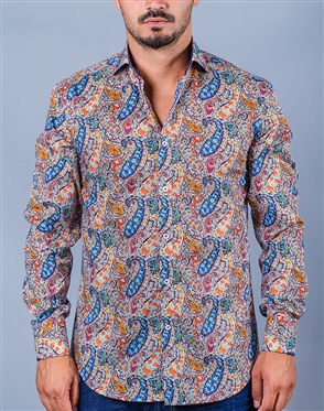 Luxury Paisley Print Dress Shirt