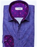 Purple Pink Linen Print Shirt
